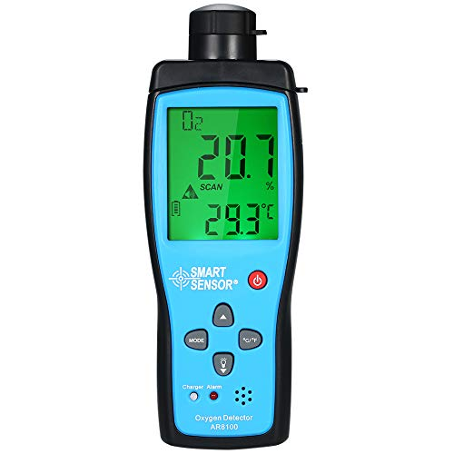 Oxygen CO2 Meter, KKmoon Oxygen Meter Digital Portable Automotive CO2 Gas Tester Monitor Detector Handheld Oxygen Meter