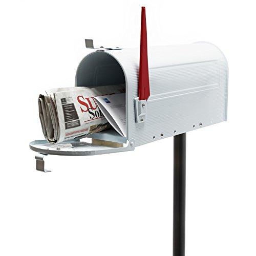 US Mailbox Briefkasten Amerikanisches Design weiß mit passendem Standfuß
