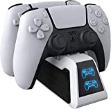 AVIDET for PS5 Controller Charger, PS5 Controller Charger Compatible Upgraded Playstation 5 Charging Station Dock with LED Indicator, Safety Chip Protection, Dual USB Fast Charging
