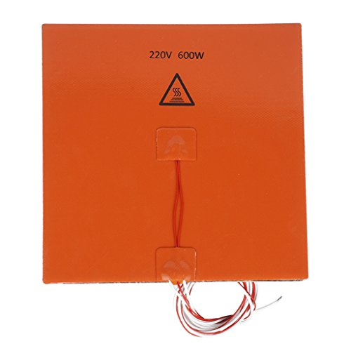 IPOTCH 200x200mm Flexible Silicone Heater Mat/Pad 3D Printer Heating Bed 220V/600W