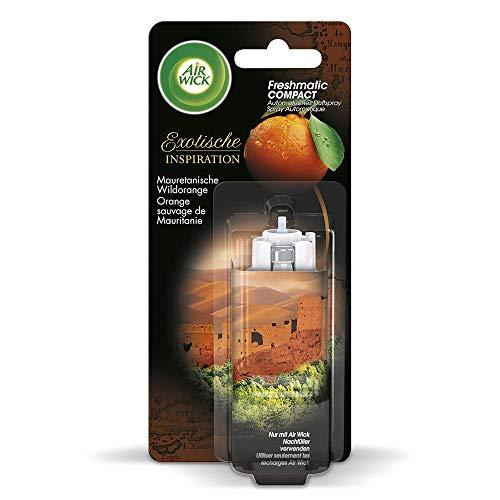 Air Wick Freshmatic Compact Raumspray – Nachfüller für das automatische Duftspray Freshmatic Compact – Duft: Mauretanische Wildorange – 3 x 24 ml