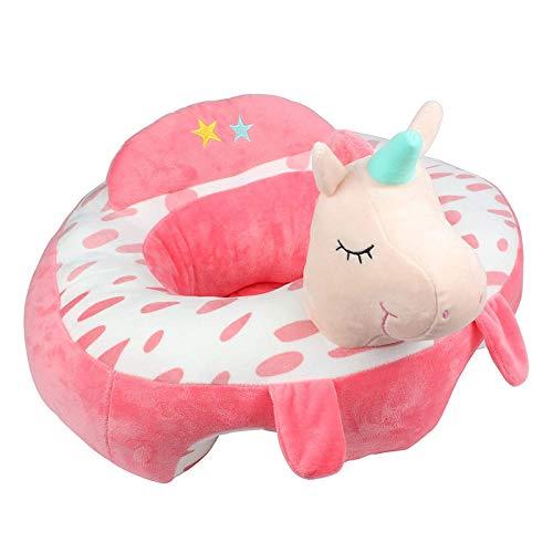 Alpacasso Creative Baby Nursing Silla segura para sentarse, cómodo bebé Apoyo Alimentar Sofá de seguridad Juguetes de regalo de felpa. (Pink)
