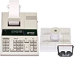 $169 » Monroe 122PDX Medium-Duty 12-Digit Print/Display Calculator with Ribbons and Paper (Calculator with Ribbons and Paper)