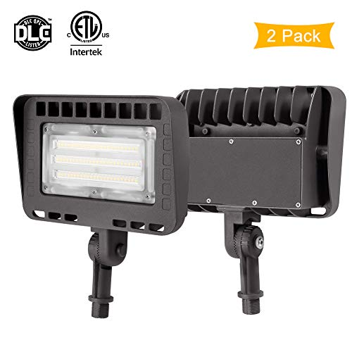 LIGHTDOT 2 Pack 70W LED Flood Light, 8400Lm 5000K Knuckle Mount, IP65 Waterproof Super Brigh LED Security Light for Outdoor Doorways Gardens Yards, Advertising Boards and Parking Lot