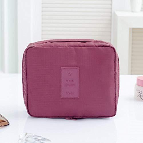 Portable Trousse De Toilette Suspendre Pliable Cosmétique Sac Rangement De Voyage Hommes Et Femmes Zipper Pochette Imperméable - vin Rouge 23 * 18 * 9cm