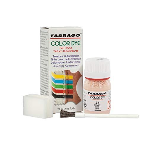 Tarrago   Colorante Colorante Self Shine 25 ml   Tintura per pelle e tela con finitura lucida per la tintura di scarpe e accessori   Asciugatura rapida per riparare le calzature (Pink 24)