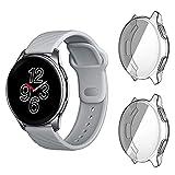 GEEMEE Hülle für Oneplus Watch, 2 Stück TPU Cover Schlankes Watch Hülle Anti-Scratch Shell für Schutzhülle Für Oneplus Watch - Transparente