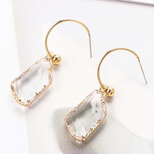 Geometrische Drop Oorbellen Vrouwen Onregelmatige Transparant Crystal Drop Oorbellen Verklaring Oorbel Sieraden Geschenken