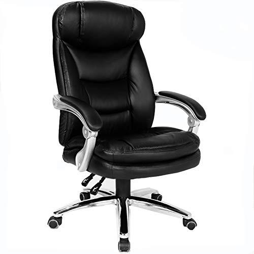 Chair Computer Desk poltrona girevole in pelle multifunzione sedia girevole sedia sedia dell'ufficio ° Rotating 360 ZHAOFENGE (Color : Black)
