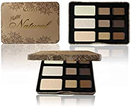 Ccolor Matte Natural 9 Color Eyeshadow Palette - Highly Pigmented - Compact Palette All Matte Neutral Colors Smokey Eye - Makeup Palette