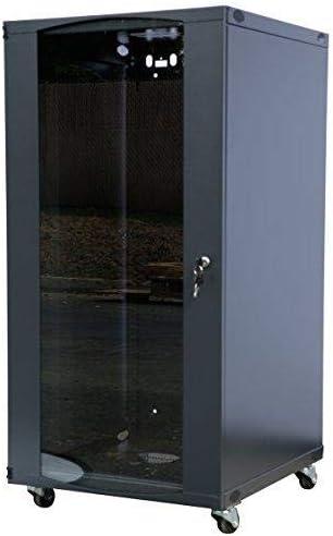 RAISING ELECTRONICS 15U Wall Mount Network Server Cabinet Rack Enclosure Glass Door Lock 600mm Deep