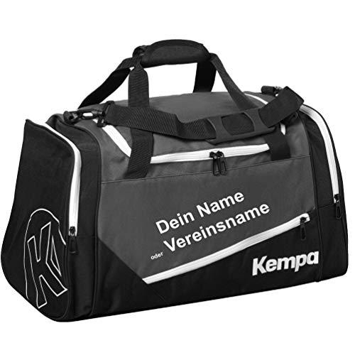Kempa Sporttasche 56x27x32 cm Anthra/schwarz + Aufdruck Name