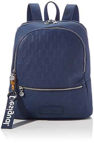Desigual Accessories PU Backpack Medium, Mochila. para Mujer, Azul, U