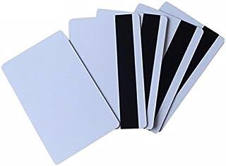 Rohlinge blanko f/ür Kartendrucker NEU! 15 Premium Plastikkarten Weiss mit Magnetstreifen HiCo 1-500 St/ück