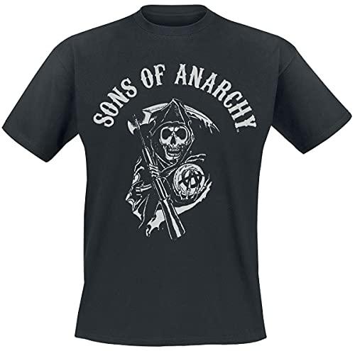 Sons of Anarchy Reaper Logo Hombre Camiseta Negro XL, 100%...