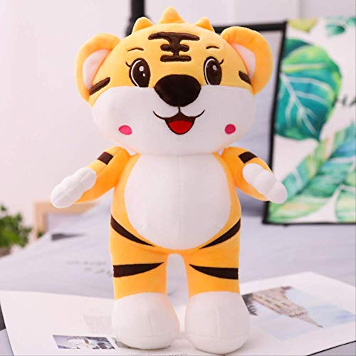 Schattige Grote Tijger Knuffel Kleine Tijger Pop Dierenriem Tijger Pop Bed Kussen Lappenpop Meisje Gele tijger 35 cm
