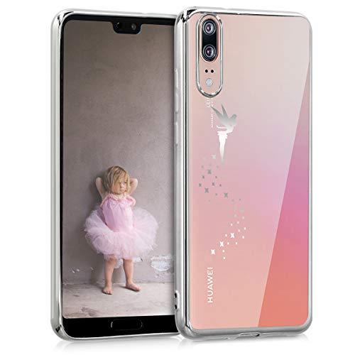 Preisvergleich Produktbild kwmobile Huawei P20 Hülle - Handyhülle für Huawei P20 - Handy Case in Fee Design Silber Transparent