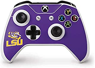 Skinit Decal Gaming Skin for Xbox One S Controller - Officially Licensed College LSU Tiger Eye Purple Design