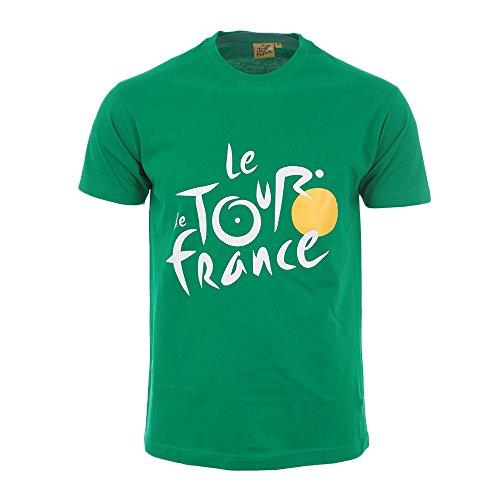 Tour de France TDF-SA-3000 Big Logo - Camiseta Unisex para Adulto, Talla S, Color Verde