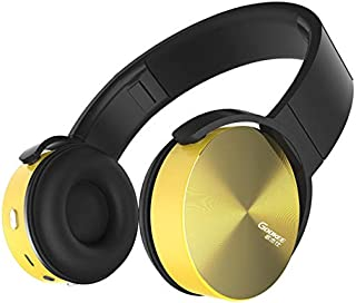 Bluetooth Headphones Over Ear Foldable Headphones, Wireless Headphones Over Ear Headset Soft Leather Earmuffs Built-In Mic for PC/Cell Phones/TV,Yellow