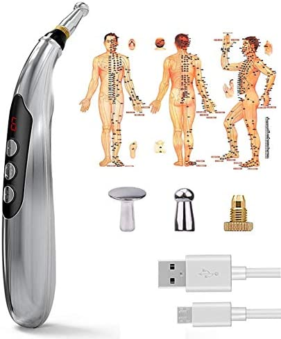 Electronic Acupuncture Pen USB Rechargeable Pain Relief Therapy Electric Meridians Energy Pen product image