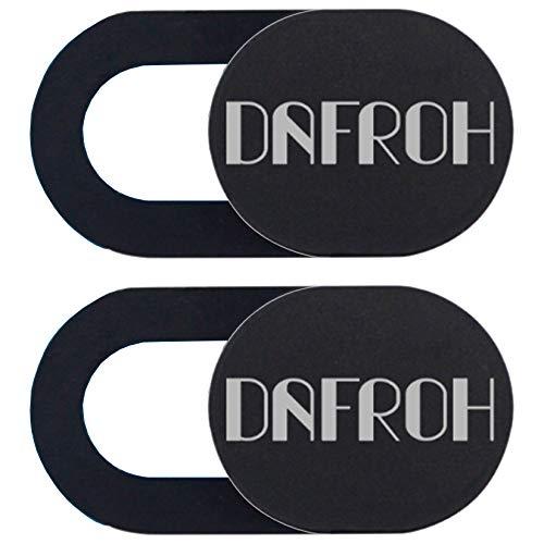 DAFROH Webcam Cover Slide Blocker für Laptops, MacBook Pro, iPad, iMac, Tablets PC, Echo Spot & Universal Camera Cover Sticker zum Schutz Ihrer Privatsphäre (2PCS: SCHWARZ)