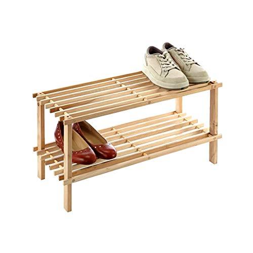 HOOBRO Shoe Rack, 5-Tier Shoe Storage Unit Flat & Slant Adjustable Shoe Organizer Shelf for 16 Pairs, Durable and Stable, for Entryway, Hallway, Closet, Dorm Room, Industrial, Rustic Brown BF01XJ01