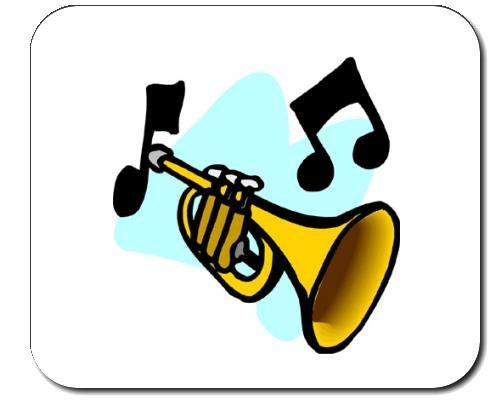Mauspad mit der Grafik: Trompete