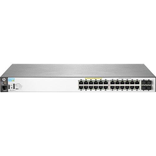HP J9773A E 2530-24G-PoE+ Switch - Switch - Managed - 24 x 10/100/1000 (PoE+) + 4 x Gigabit SFP - Desktop, Rack-mountable, Wall-mountable - PoE+