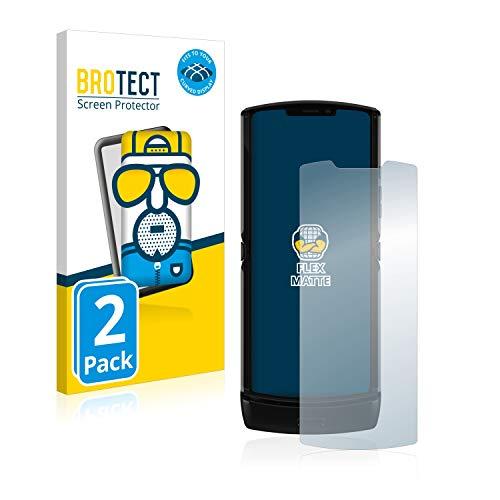 BROTECT Full-Cover Schutzfolie Matt kompatibel mit Motorola Razr 2019 (2 Stück) - Full-Screen Bildschirmschutz-Folie, 3D Curved, Anti-Reflex