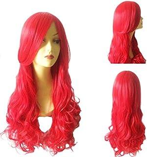 70CM Cosplay wig little mermaid wig Princess ariel Red curly wig set in cartoon style