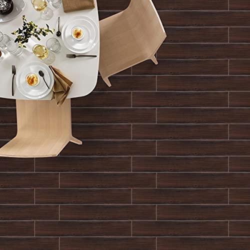 KINLO Suelo de PVC para suelo de madera, 2,7 m²/20 tablones, autoadhesivo, antideslizante, resistente a la abrasión, insípido, lámina decorativa para baldosas/mármol/suelo radiante, etc.
