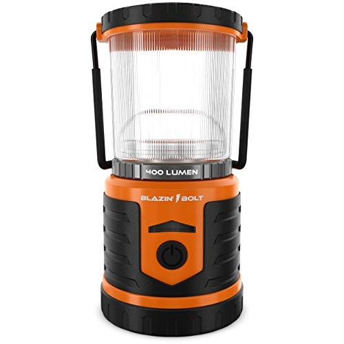 Brightest LED Rechargeable Lantern   Hurricane, Camping, Storm   Power Bank Light   400 Hour Runtime (400 Lumen, Orange)