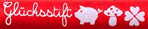 Ringelsuse - Roter Glücksstift, Kugelschreiber mit Blauer Schriftfarbe als Glücksbringer für Prüfungen, Examen