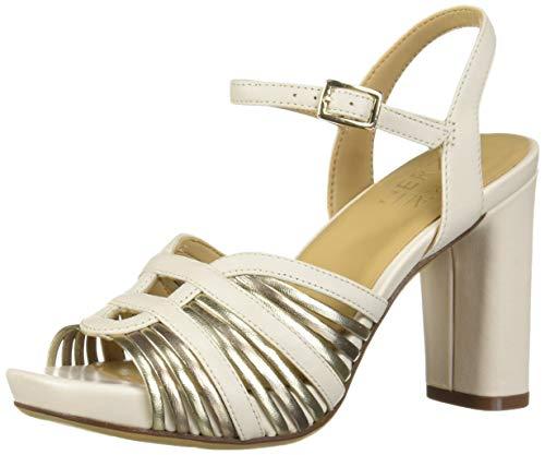 Price comparison product image Naturalizer Women's Jules Heeled Sandal,  Alabaster,  7 W US