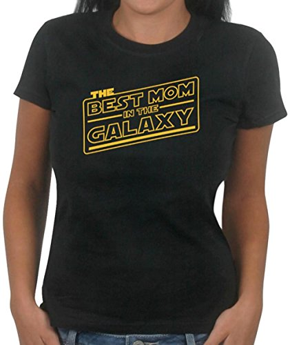 Best Mom in the Galaxy T-Shirt for Women (Medium, Sun Yellow)
