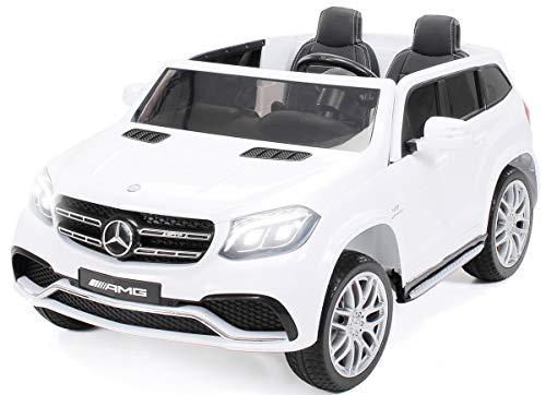 Actionbikes Motors Kinder Elektroauto Mercedes GLS63 Allrad Leder Sitz Kinderfahrzeug Kinderauto 45 Watt 2 Sitzer (Weiß)*