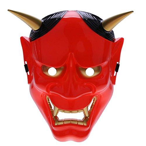 Gowind6 - Máscara japonesa, de PVC, Hannya Noh, de cara
