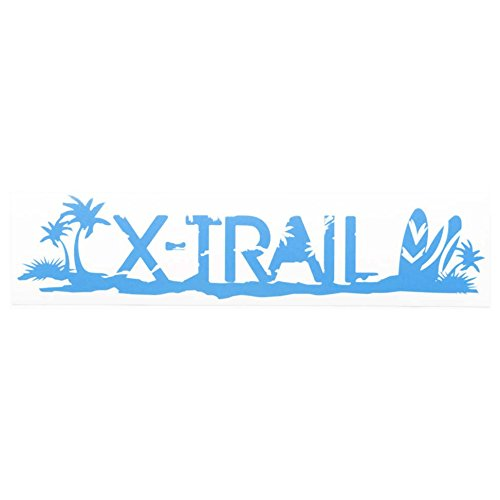 ブルー(青) Sサイズ X-TRAIL エクストレイル t30 t31 t32 日産 ニッサン リアガラス カッティングステッカーシール デカール サーフボ.
