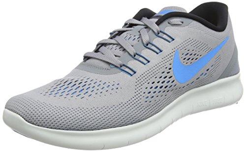 Nike Herren Free Run Laufschuhe, Grau (Stealth/Blue Glow-Black-Cool Grey), 39