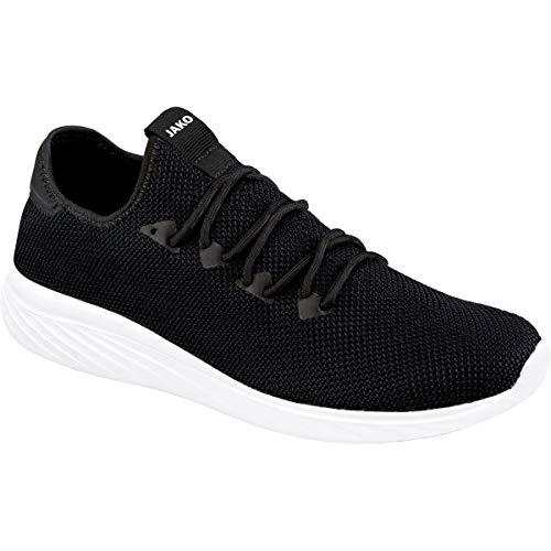JAKO Unisex Striker 2.0 Sneaker, schwarz, 42 EU