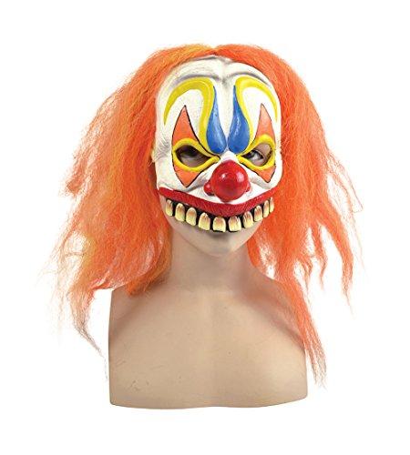 Clown Half Mask + Orange Hair
