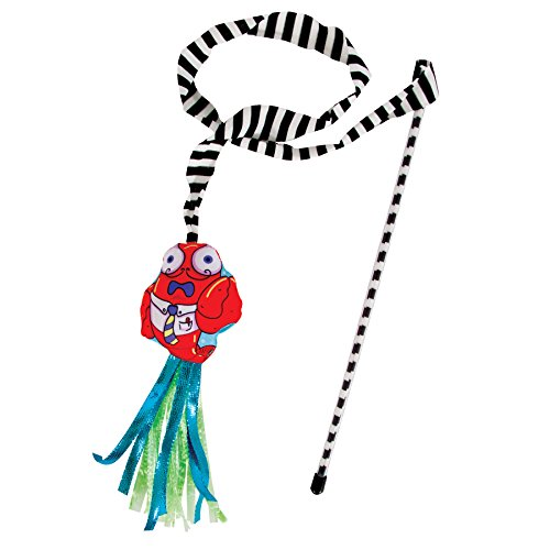 Petmate Fat Cat Catfisher Teasers Cat Toy, Craw Dad Wand