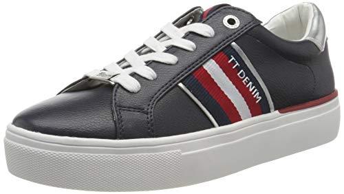 TOM TAILOR Damen 8096801 Sneaker, Blau (Navy 00003), 39 EU