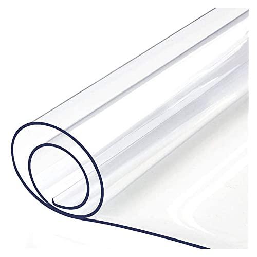 ZWYSL Protector Suelo Alfombrilla para Silla Protección Pisos Duros Antideslizante Impermeable Limpiable, para Rayones Absorbentes Sonido en la Oficina (Color : Clear-2mm, Size : 160x230cm)