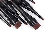 FAMKIT Cepillo de maquillaje de doble capa para sombra de ojos y polvo, cepillo cosmético de maquillaje