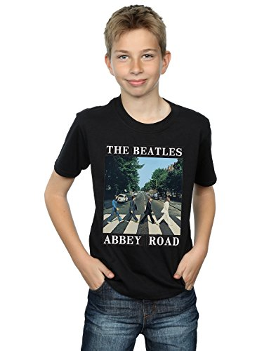 The Beatles Boys Abbey Road T-Shirt 9-11 Years Black