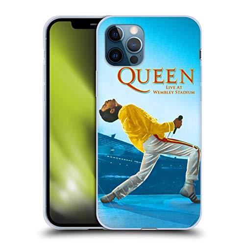 Head Case Designs Licenza Ufficiale Queen Freddie Mercury Live At Wembley Arte Chiave Cover in Morbido Gel Compatibile con Apple iPhone 12 / iPhone 12 PRO