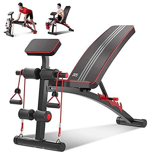 Banco de peso ajustable Entrenamiento de cuerpo completo Banco de pesas Bancos de peso ajustable para un banco de entrenamiento de cuerpo completo para el hogar Ejercicios de gimnasio, inclinación múl