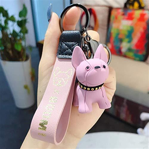 LKITYGF Perfect Key chain Fashion Frise Golden Dog Keychain for Women Men Car Key Ring Key Chain Pendant (Color : Bm 11)